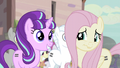 Starlight smiling and Fluttershy nervously smiling S5E02.png