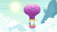 Twilight Sparkle and Spike in balloon 2 S8 opening