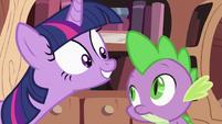 Twilight Sparkle asking Spike 4 S2E03