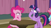Twilight Sparkle looking embarrassed S9E16