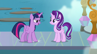 Twilight Sparkle putting her hoof down S8E2