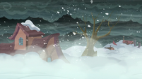 A part of the town snowed in S06E08