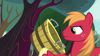Big Mac holding an empty bucket S8E12