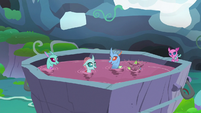 Changelings swimming in holiday punch S8E16
