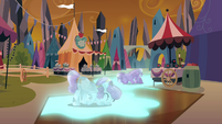 Crystal ponies using their power S3E02