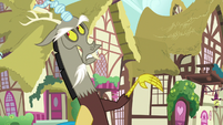 Discord scoffing at Scootaloo S9E23