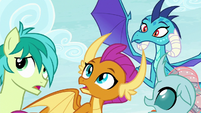Ember and students looking at Twilight S8E2