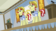 Flim and Flam singing the final chorus S8E16