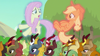 Fluttershy -we were arguing with each other- S8E23