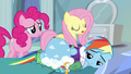 Fluttershy administers tough love to Rainbow S5E5.png