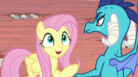 Fluttershy eagerly accepts Ember's offer S9E9
