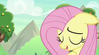 Fluttershy sighing with relief S8E23
