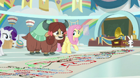 Fluttershy teaching Yona the cotillion S9E7