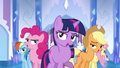 Main ponies cheer formation S03E12.png