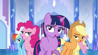 Main ponies cheer formation S03E12