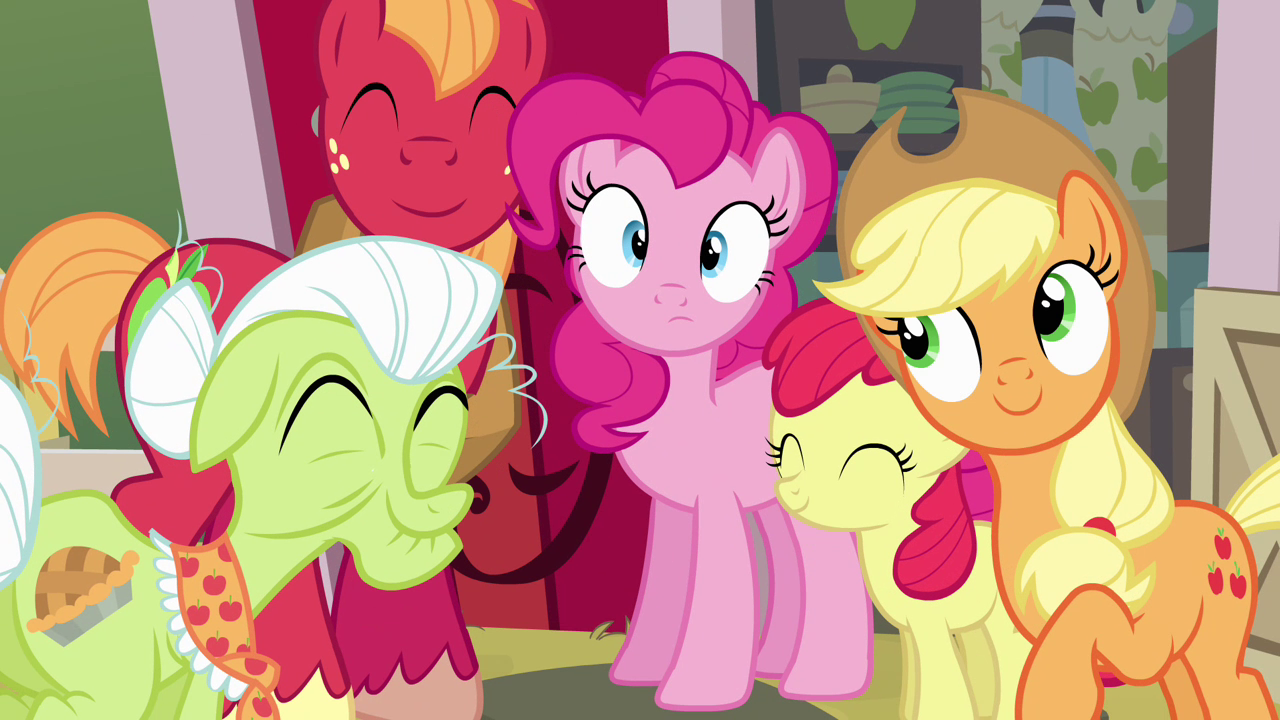 """Image - Pinkie Pie and Apple family """"road trip!"""" S4E09.png"""