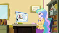 Principal Celestia at her office desk EGDS37