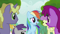 Rainbow Dash Speaks to the Crowd S2E8.png