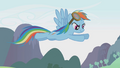 Rainbow Dash flying above the Parasprites S01E10.png