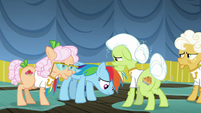 Rainbow Dash hangs her head in shame S8E5