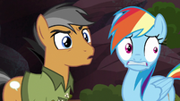 Rainbow and Quibble hear Caballeron's voice S6E13