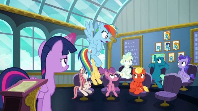 "File:Rainbow repeats ""class is in session!"" S6E24.png"