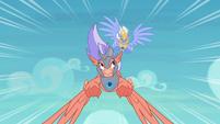 Sky Beak swoops behind his opponent S8E6