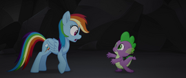Spike telling Rainbow Dash what happened MLPTM
