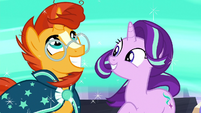 Sunburst impressed by Starlight Glimmer's magic S7E24