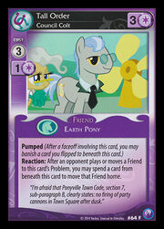 Tall Order, Council Colt card MLP CCG