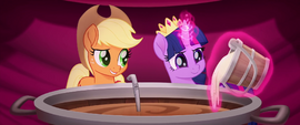 Twilight Sparkle adds sugar to the cider MLPTM