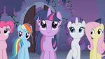 Twilight and friends looking at the Elements S1E02