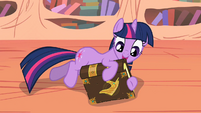 Twilight glad to find Elements book back in her hooves S2E02
