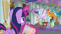 Young Six see Twilight put up posters S9E7