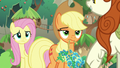 AJ and Fluttershy look unamused at Autumn S8E23.png