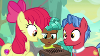 "Apple Bloom ""he seems okay meetin' us"" S9E22"