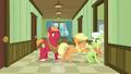 Applejack pushes Granny Smith into a hospital room S6E23.png