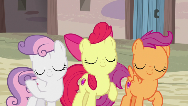 File:Cutie Mark Crusaders flipping their manes S7E8.png
