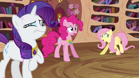 "Fluttershy, Pinkie, and Rarity ""what happened"" S03E13"