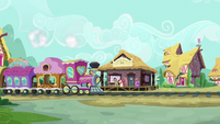 Friendship Express pulls into Ponyville Station S9E19
