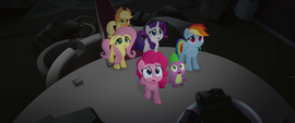 Main five and Spike worried about Twilight MLPTM