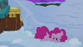 Pinkie Pie lying on the snow while sad S7E11.png