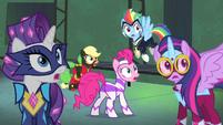 Power Ponies looking surprised S4E06