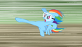 Rainbow Dash about to kick the old barn S2E03.png