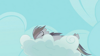 Rainbow Dash continues nap on the cloud S2E02