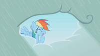 Rainbow Dash embarrassed laugh S1E03