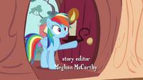 Rainbow Dash enters the library S4E04