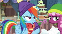 Rainbow Dash with an impish smirk BGES1