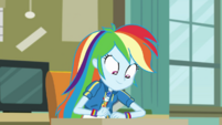 Rainbow Dash writes the answer down EGDS6