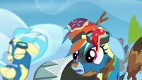 Rainbow hears the Wonderbolts laughing S6E7